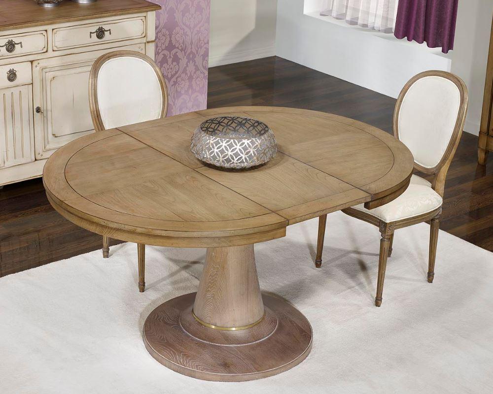 Mesa redonda extensible reina ana en betty co - Mesas redondas de madera extensibles ...