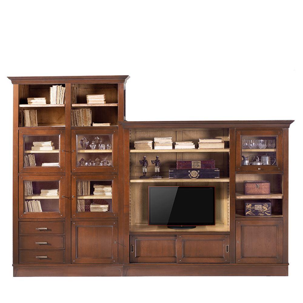 Mueble modular cl sico para tv valley 2 en betty co for Mueble modular