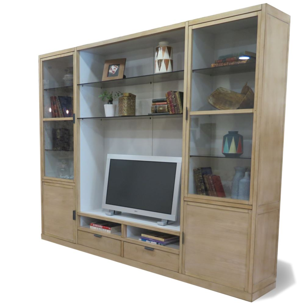mueble modular contempor neo vintage para tv loft en betty co