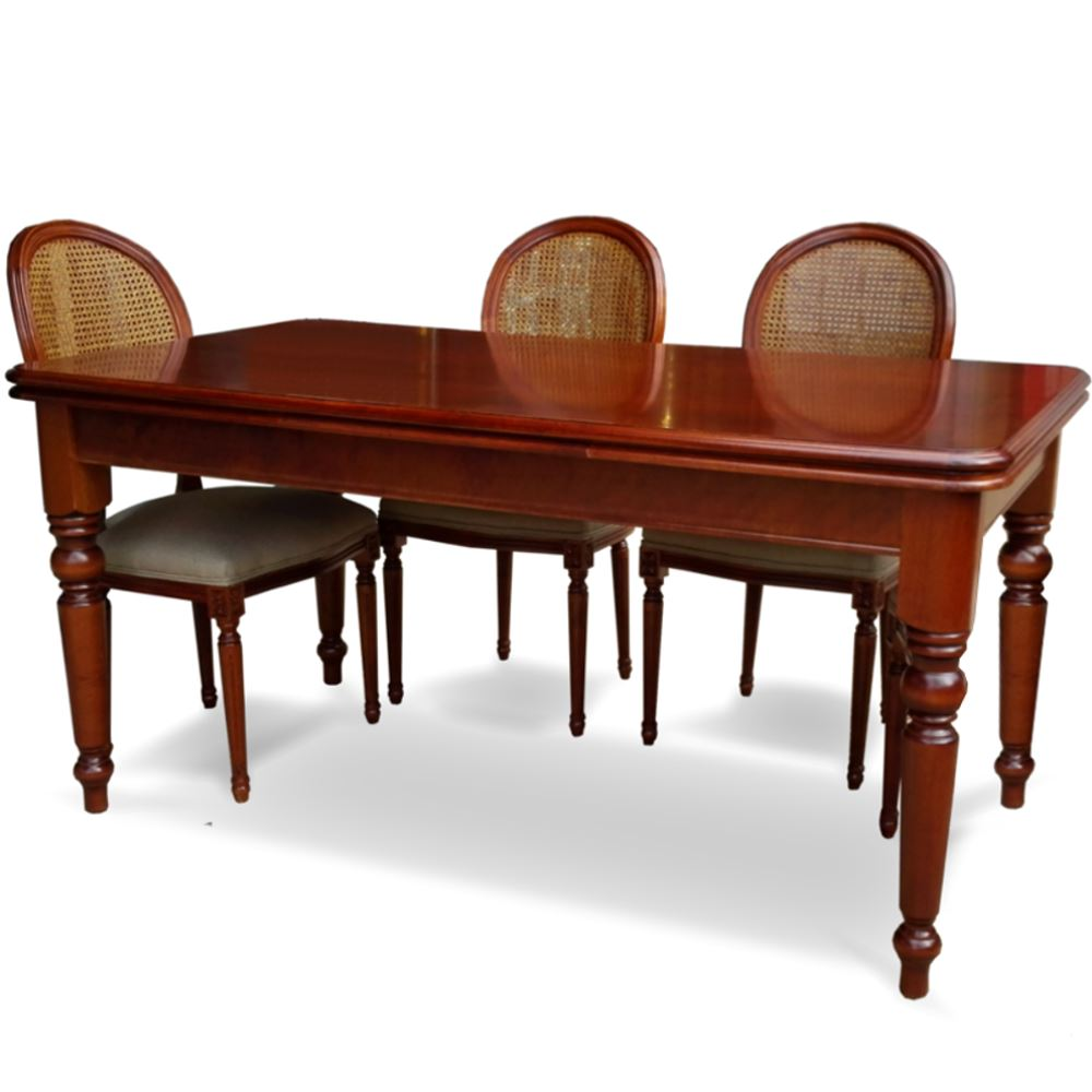 Mesa comedor victoriana 6 sillas luis xvi en betty co for Mesas de comedor extensibles con sillas