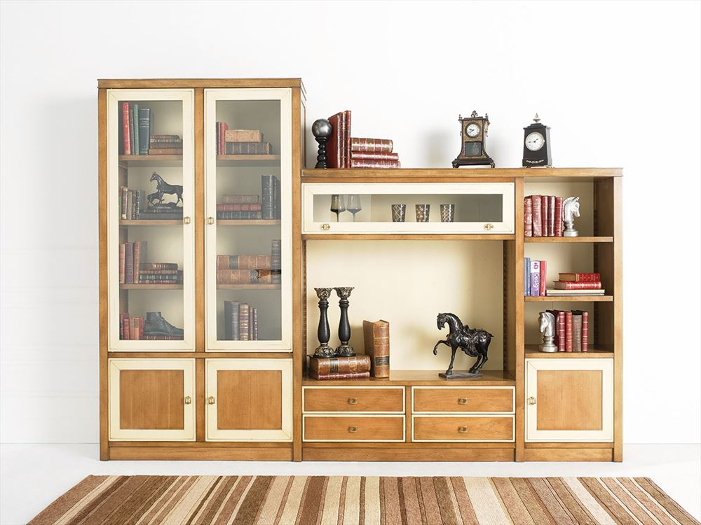 Librer a modular cl sica de sal n vergara 1 en betty co for Librerias clasicas para salon