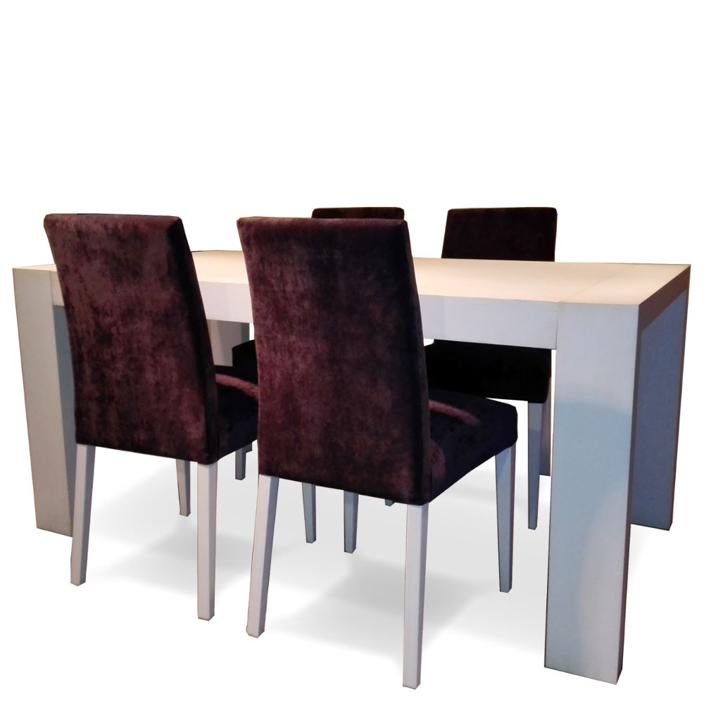 Mesa comedor extensible 4 sillas en outlet betty co for Sillas comedor outlet