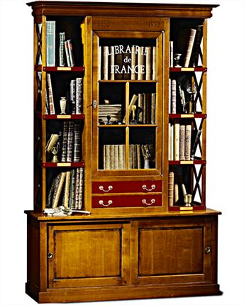 Mueble libreria francesa cerezo Toulouse en Betty&Co.