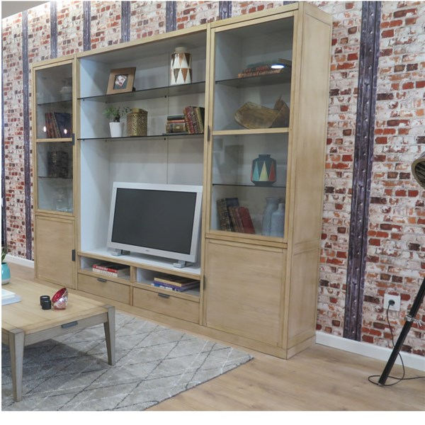 Mueble modular contemporáneo vintage para tv Loft (2)