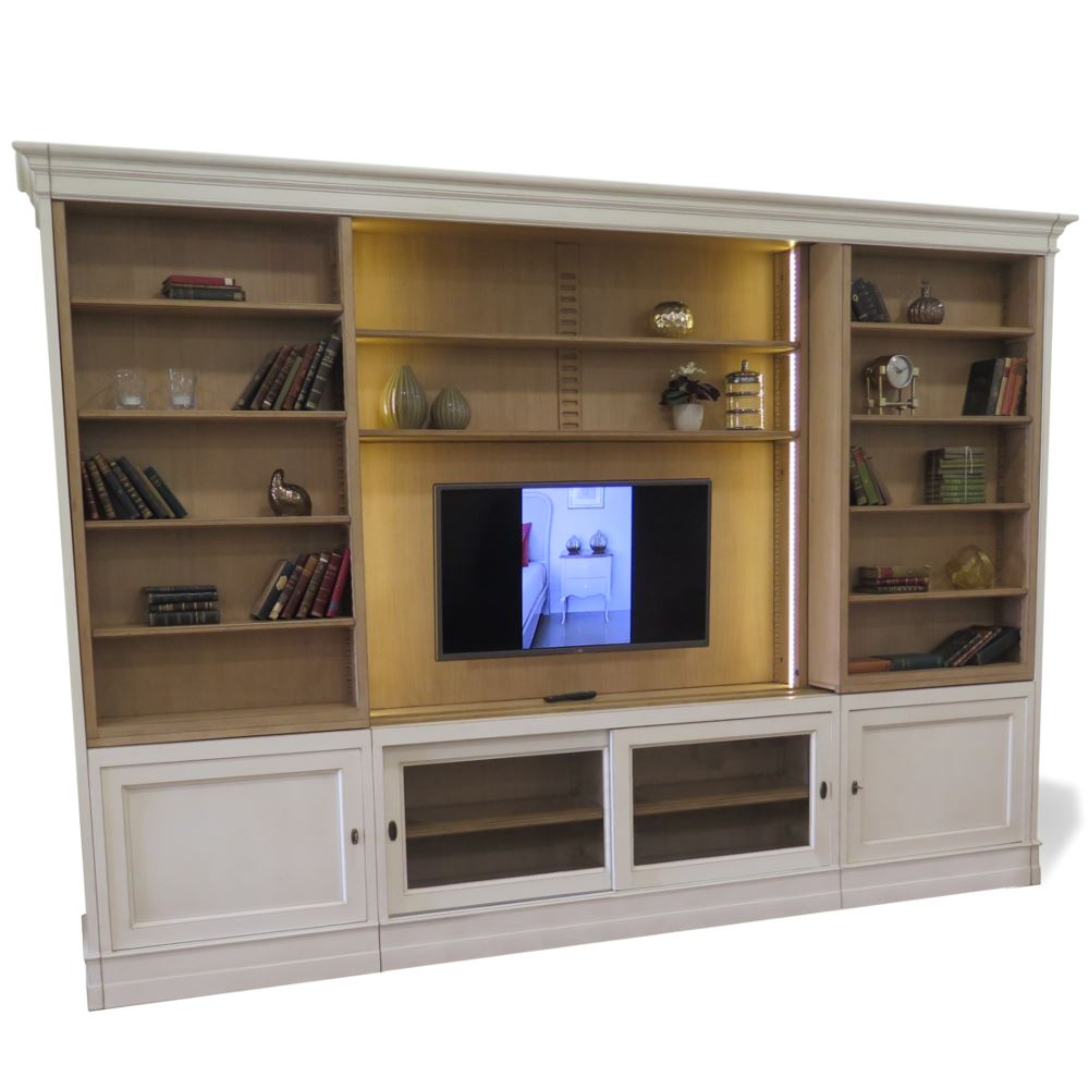 Mueble modular librer a corredera para tv urban en betty co for Mueble libreria