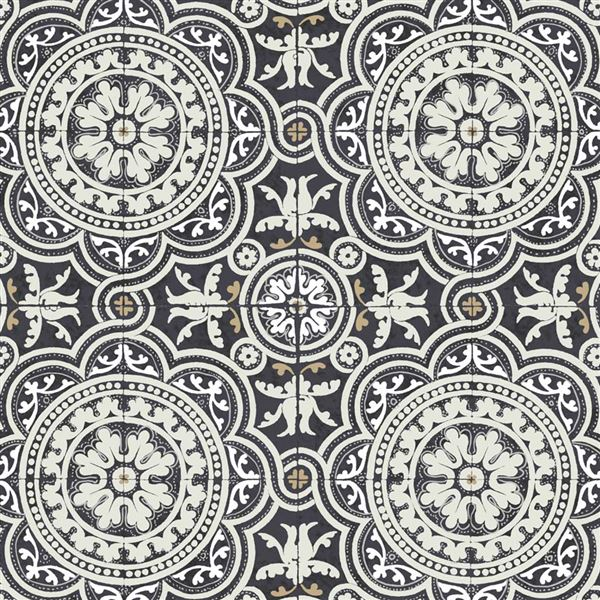 Papel para paredes vintage negro Piccadilly 94-8045 Cole&Son