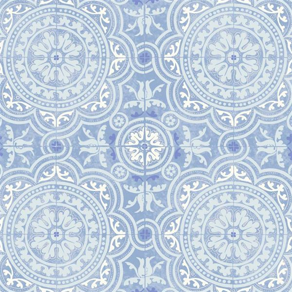 Papel para paredes vintage turquesa Piccadilly 94-8042 Cole&Son