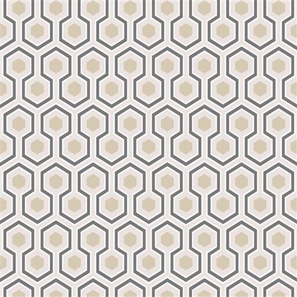 Papel pintado contemporáneo Cole&Son Hicks´ Hexagon 95-3016 en Betty&Co.