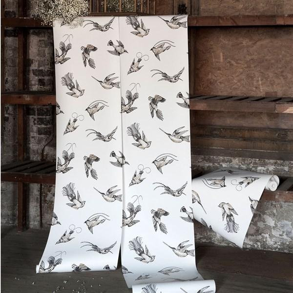 Papel pintado decoracion pájaros Tropical Birds 89-1003 Cole&Son (1)